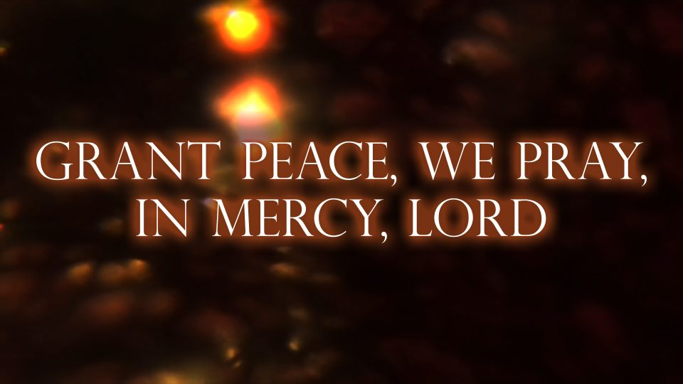 Grant Peace, We Pray, in Mercy, Lord